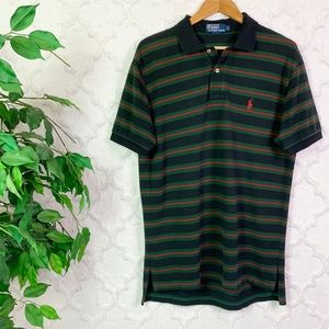 Polo Ralph Lauren Red Striped Short Sleeve Polo